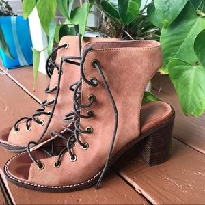 Free People Jeffery Campbell lace up heels size 9